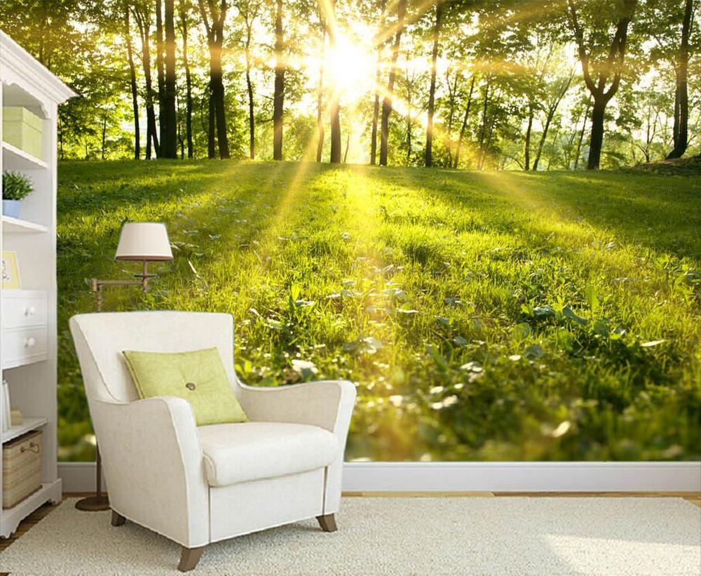 Barato frete gr tis floresta 3d papel de parede quarto for Simulador de casas 3d gratis