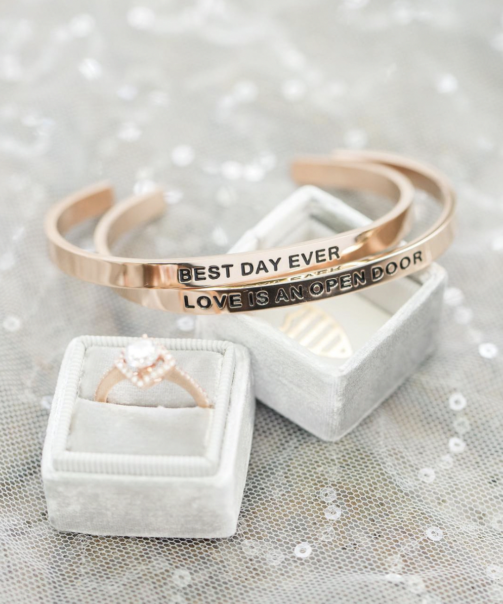 Simple Elegant Bridal Jewelry Best Day Ever And Happily