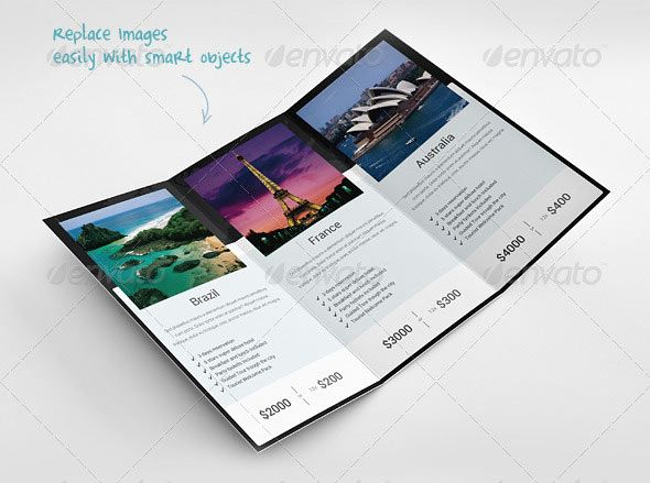 Great Travel Brochure Templates  Brochures  Bukletai