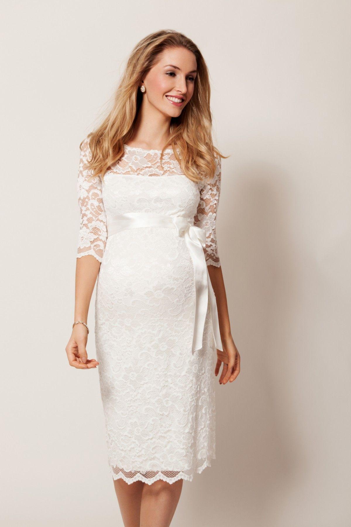 Zwangerschaps trouwjurk tiffany rose amelia stefanie pinterest amelia lace maternity wedding dress short ivory by tiffany rose ombrellifo Gallery