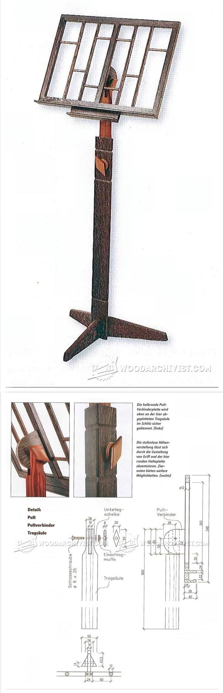 Music Stand Woodworking Plans