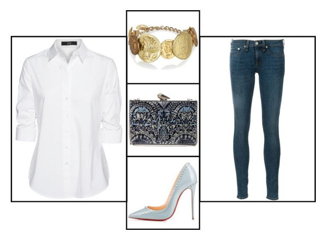 """""""Outfit # 2989"""" by miriam83 ❤ liked on Polyvore featuring Dolce&Gabbana, KOTUR, Christian Louboutin, Steffen Schraut and rag & bone"""
