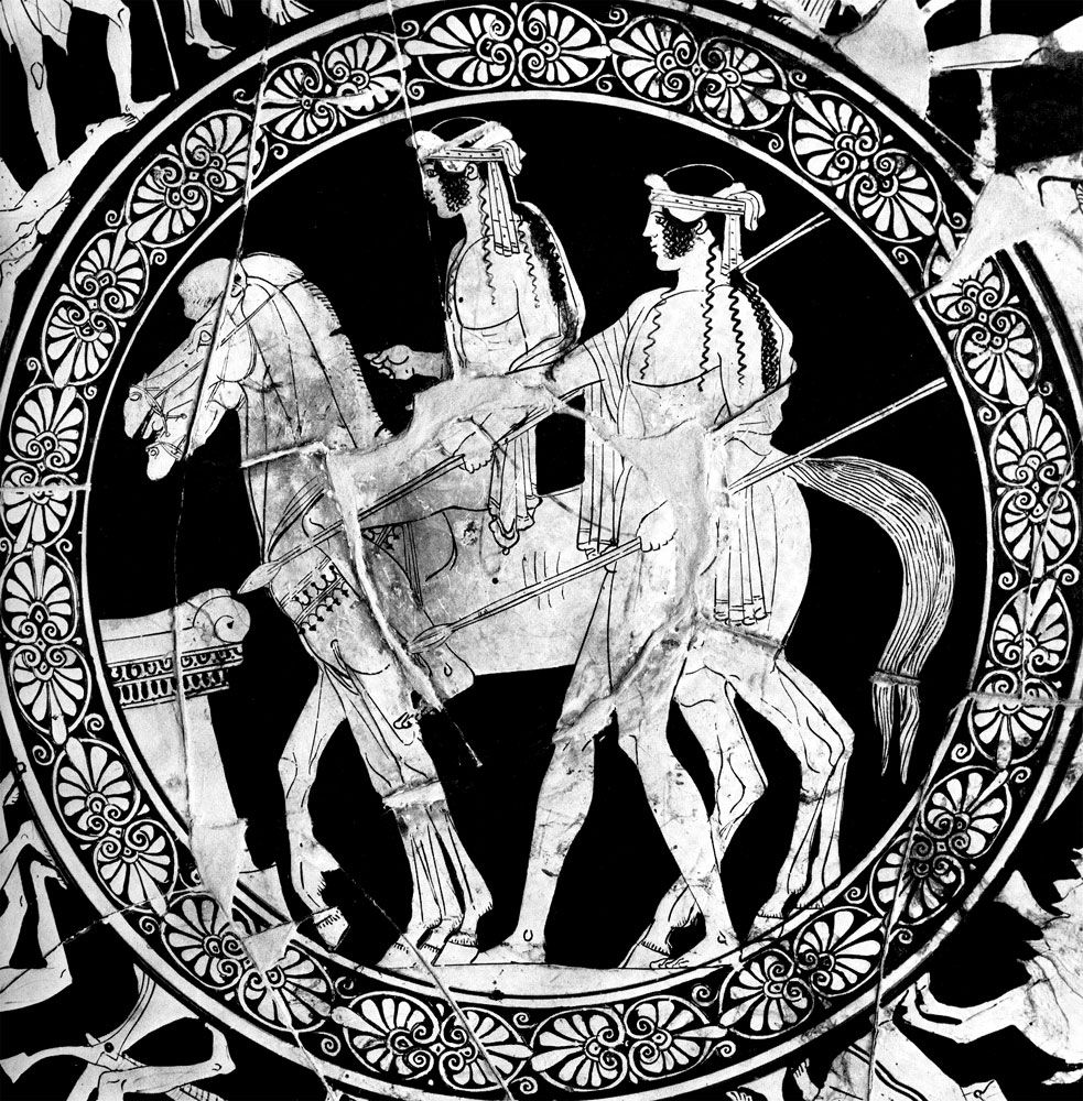 The Dioscuri Castor And Pollux Attic Red Figure