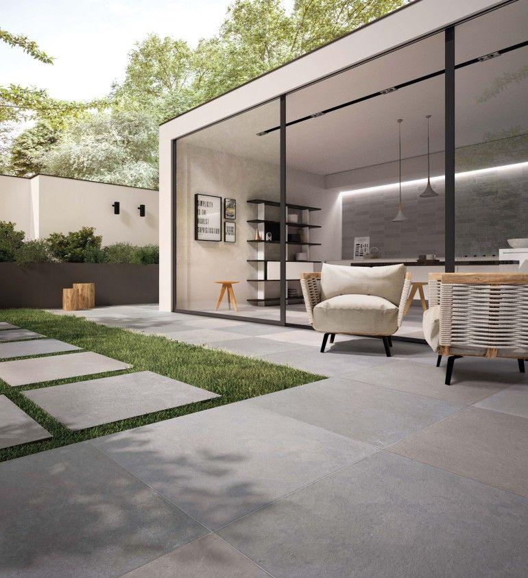 No W Stone Effect Porcelain In 2020 Outdoor Wood Tiles Outdoor Flooring Modern Outdoor Living