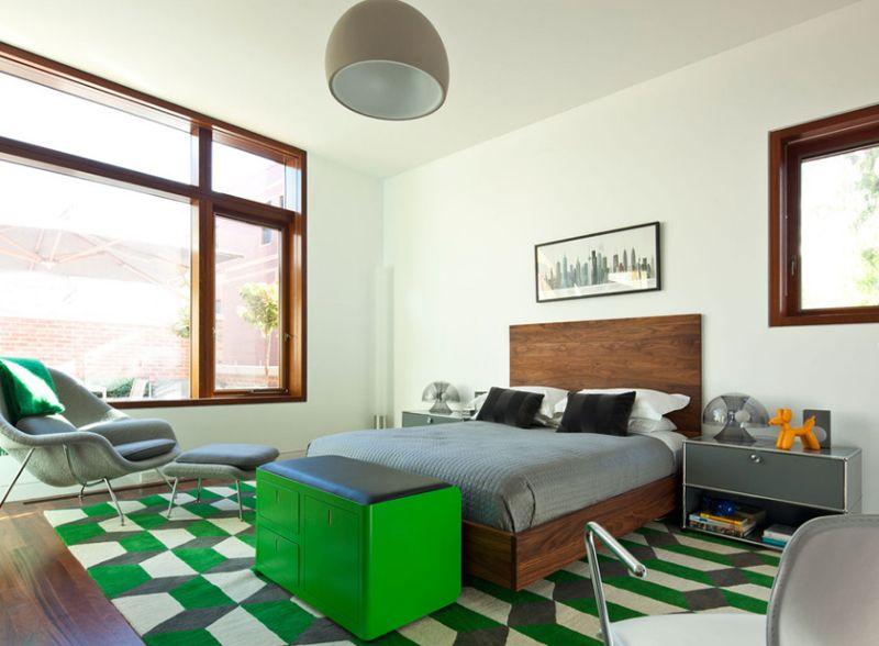 12 idées de déco pour une chambre rafraîchissante en vert et gris ...