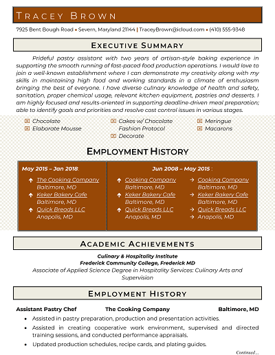 Core Functional Resume Template Word
