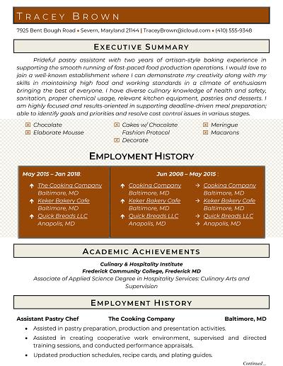 Saxton Functional resume, Resume, Words