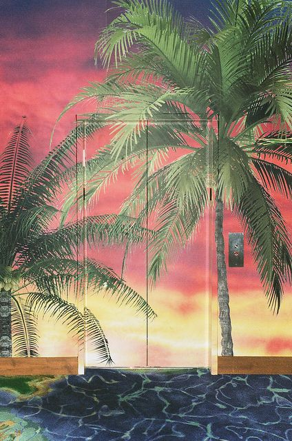 Reminds me of Scarface Mural, Tropical artists, Wall murals