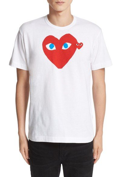 a20c1b78fda9 Comme des Garçons PLAY Heart Face Graphic T-Shirt available at  Nordstrom