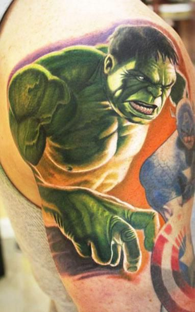 Realism Movies Tattoo by Steve Wimmer - http://worldtattoosgallery.com/realism-movies-tattoo-by-steve-wimmer/