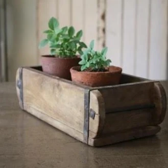Authentic Rustic Wooden Brick Mould Wedding Box Centrepiece In 2020 Brick Molding Wooden Tea Box Herb Boxes