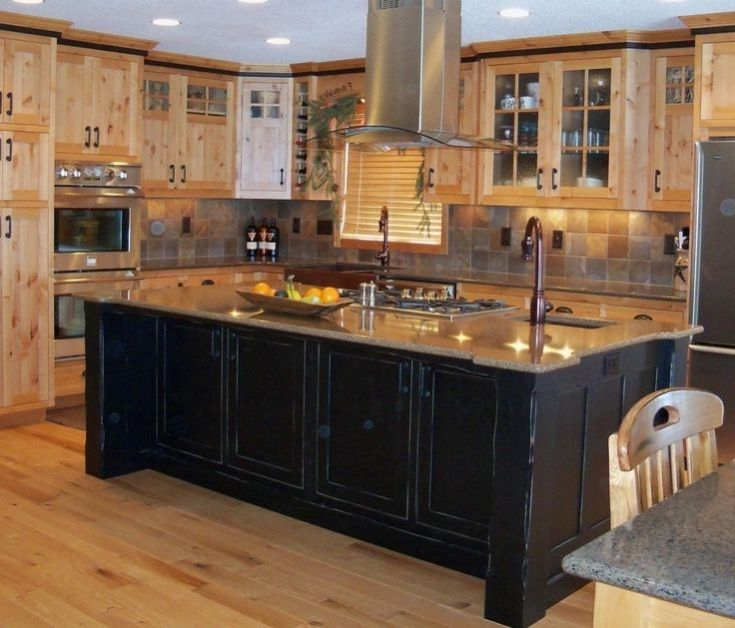 Simple Ready Made Kitchen Islands Design Photo