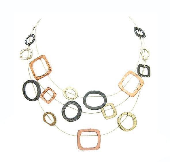 Tritone Geometric Illusion Necklace