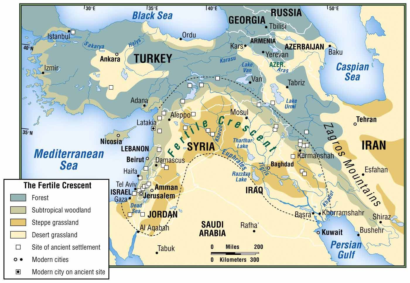 Physical Map Of Fertile Crescent