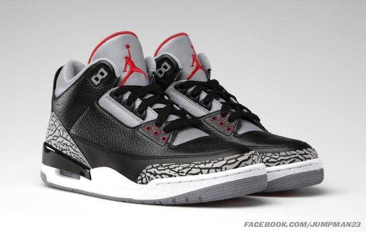 size 40 e723e 7b0b1 Air Jordan 3 Retro Black Cements | Jordan | Sneakers ...