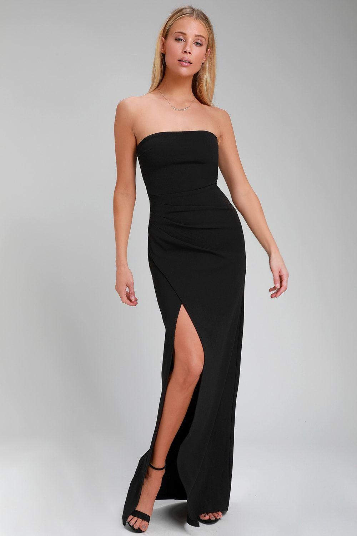 45+ Cheap black strapless maxi dress trends