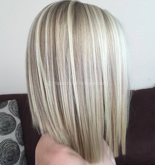 2 Blonde Balayage Lob Hair Styles Thick Hair Styles Haircut For Thick Hair