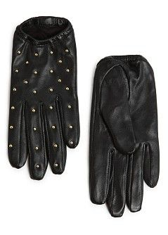 f24f43f334335 Studded short leather gloves - Women | Glove Love | Leather gloves ...