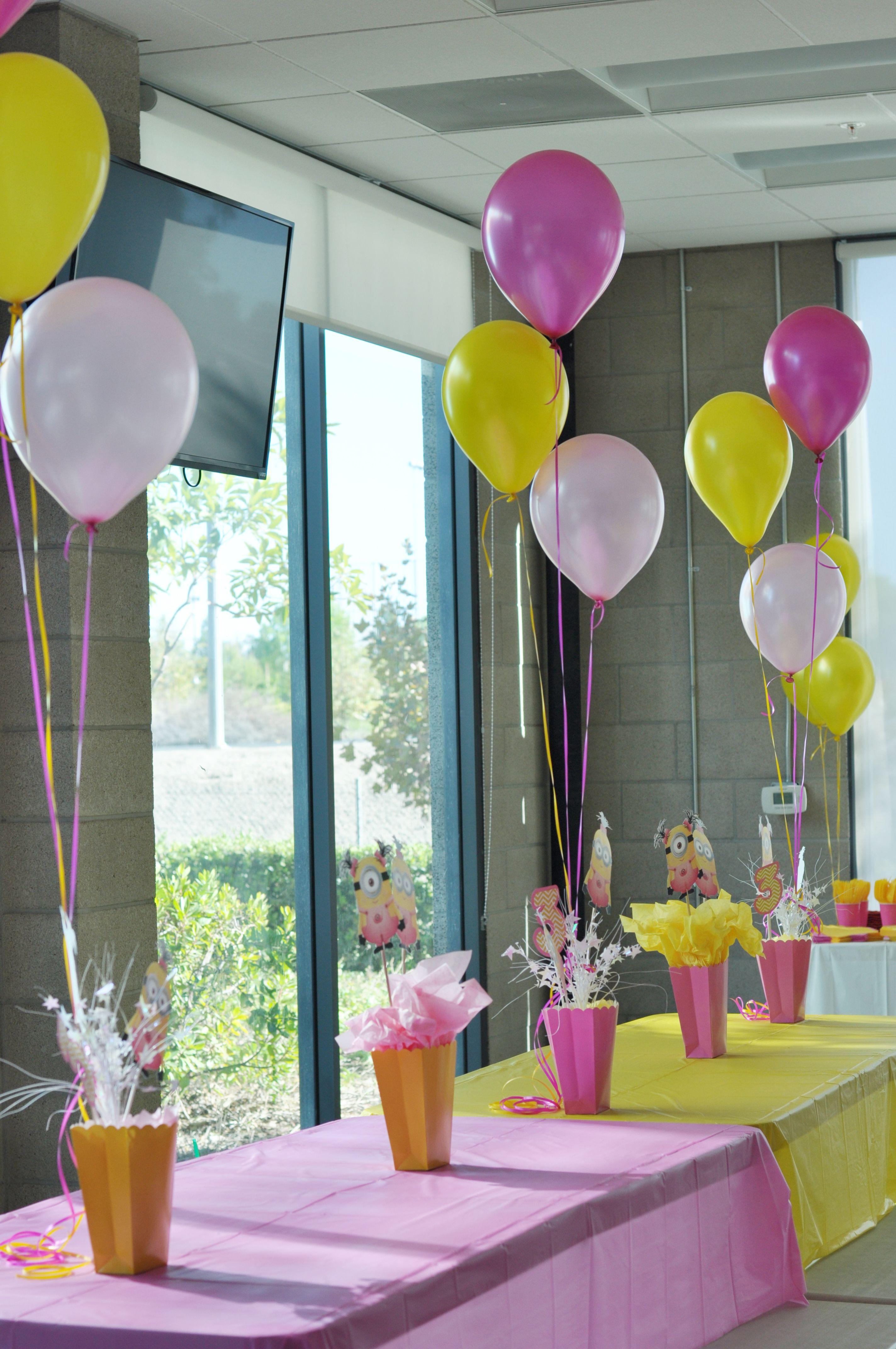 Girl minion birthday party thanhsisters girl minion