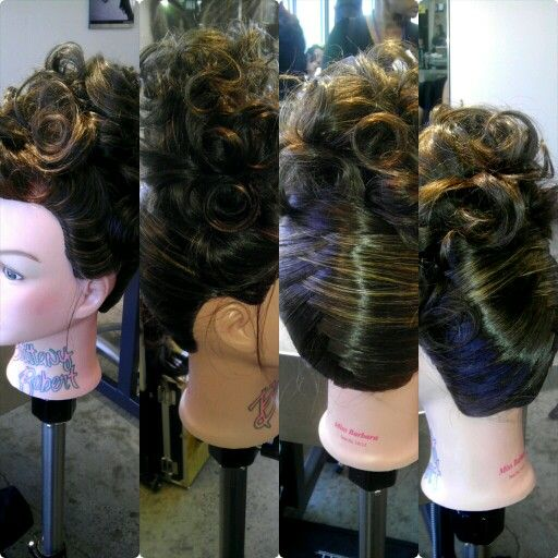 Pin Up Hairstyles Mannequin Head Barbara Paul Mitchell Vanguard