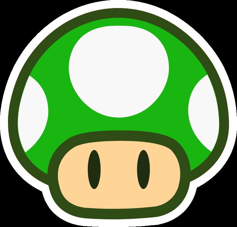 Super Mario 1 Up Mushroom Green Sticker Super Mario Super Mario Tattoo