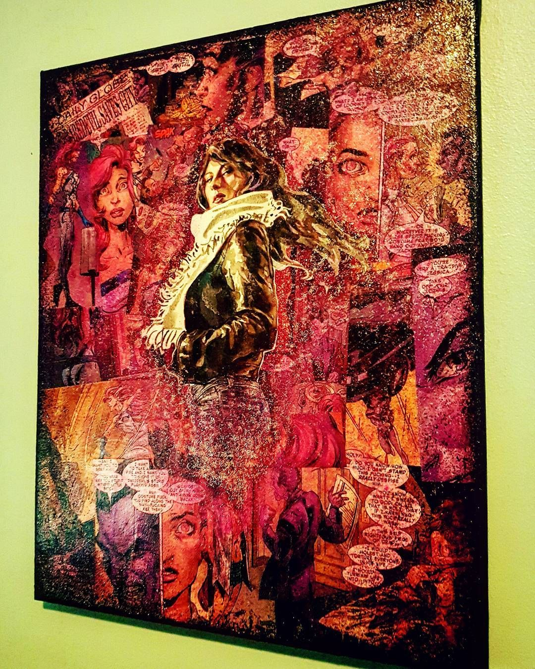 Jessica Jones   #jessicajones #alias #netflix #marvel #comics #upcycle #defenders #purple #purpleman #detective #superhero #lukecage #daredevil #ironfist #handmade #etsy #montreal #artlife #instagallery #followme