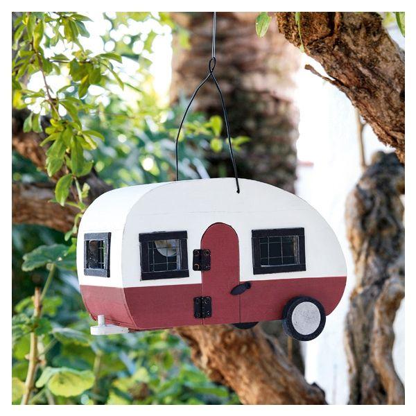 ein wohnwagen als vogelh uschen nistkasten vogelhaus. Black Bedroom Furniture Sets. Home Design Ideas