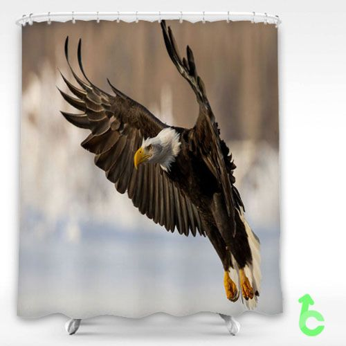 Bird Eagle Wings Flap Shower Curtain