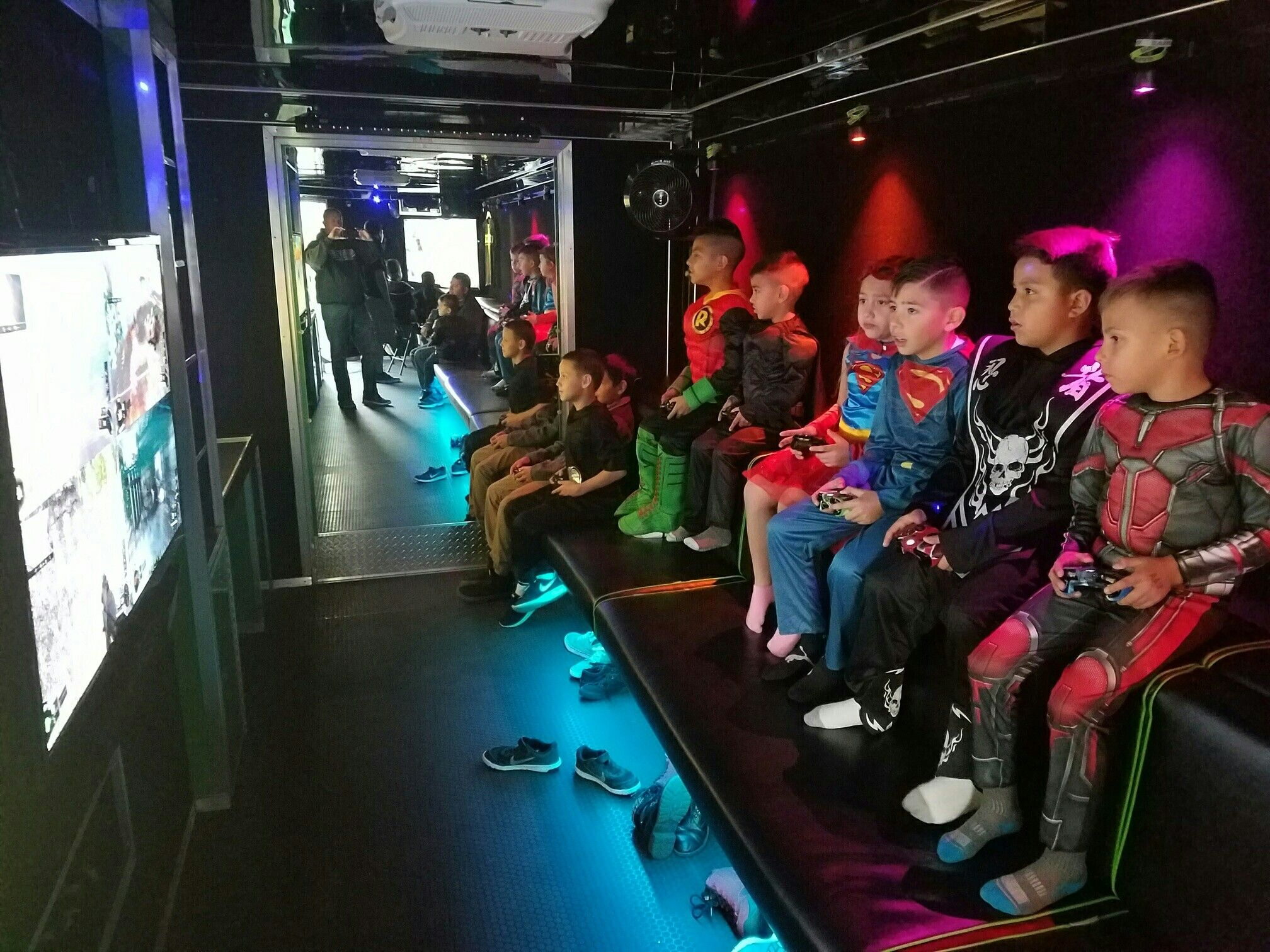 Halloween party in the mobile video game truck!