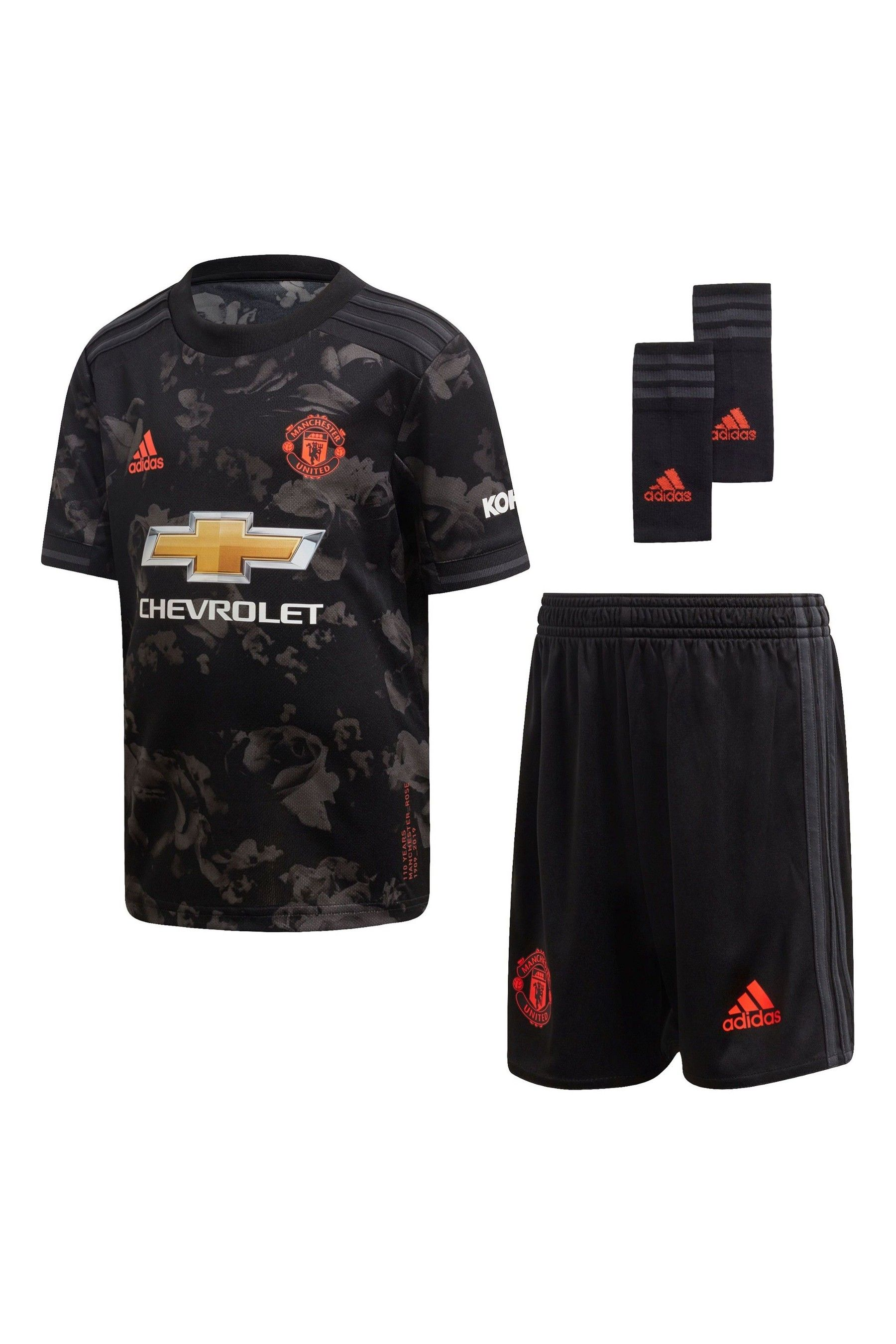 Boys Adidas Black Manchester United 2019 2020 Mini Kit Infant Black Black Adidas Manchester United Mini Footballs