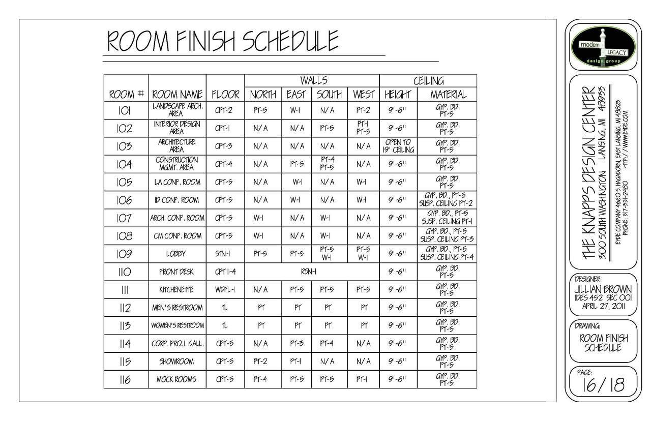 drawing schedule template