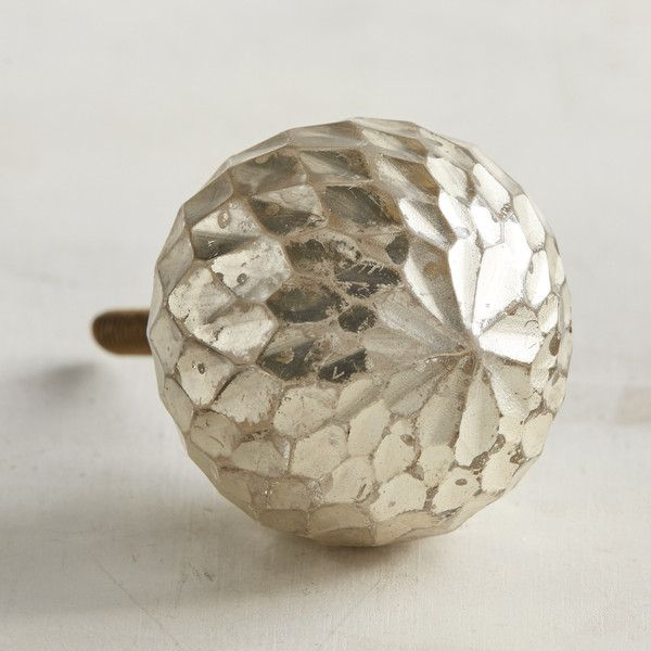 Pier 1 Imports Angela Glass Ball Knob ($8) ❤ Liked On Polyvore Featuring  Home