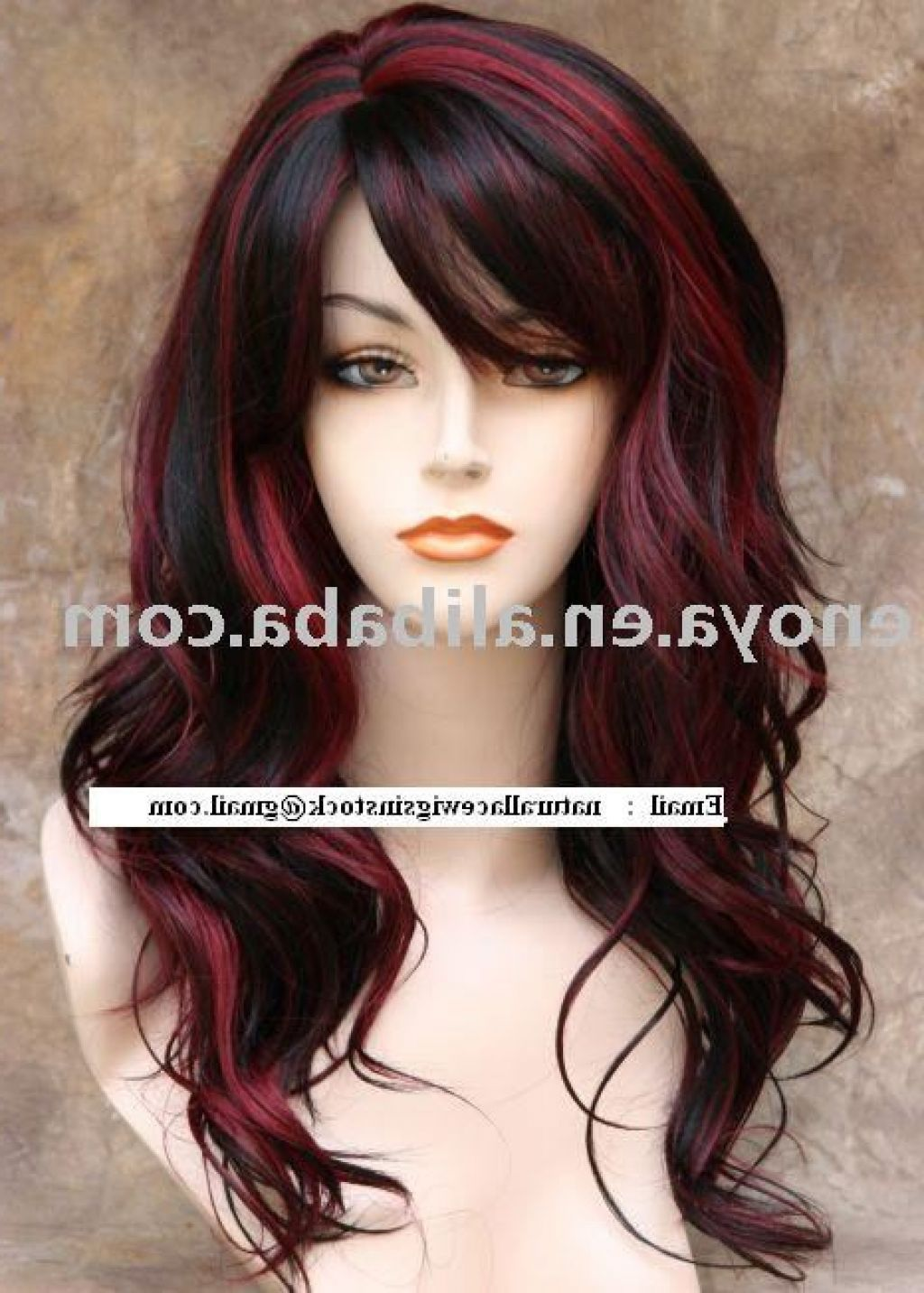 Ombre+Dark+Brown+Hair+with+Red+Highlights @ellascrunchymom ...