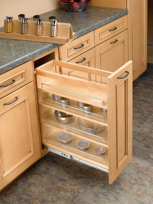 Kitchen Cabinet Pull Out Organizers base cabinet pullout organizer with spice rack insert kitchen