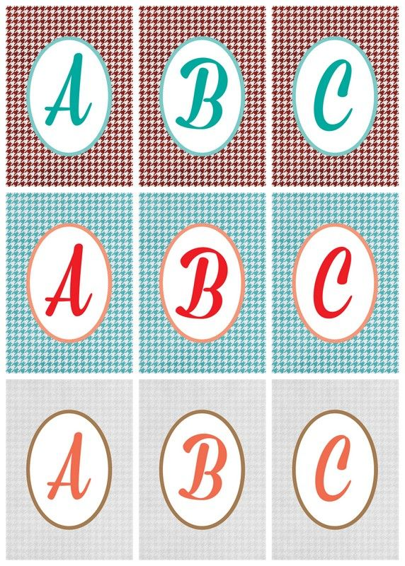 This is an image of Adorable Printable Letters for Signs