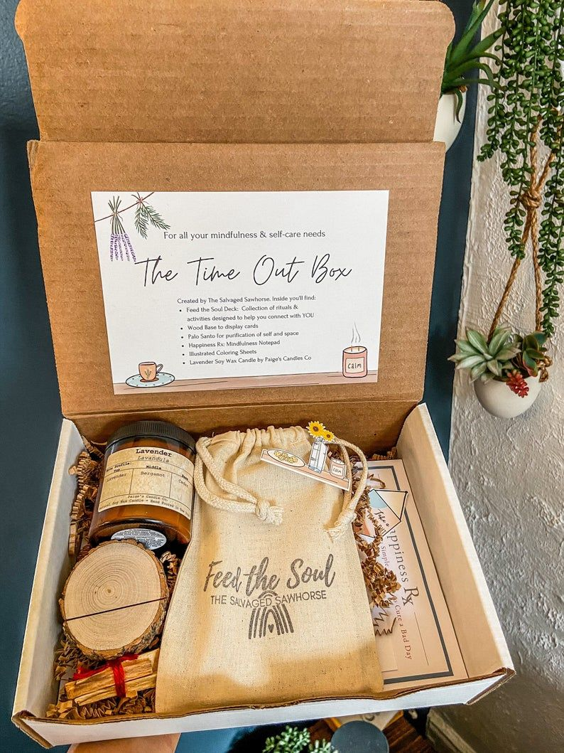 Self-care gift box that helps you take a timeout