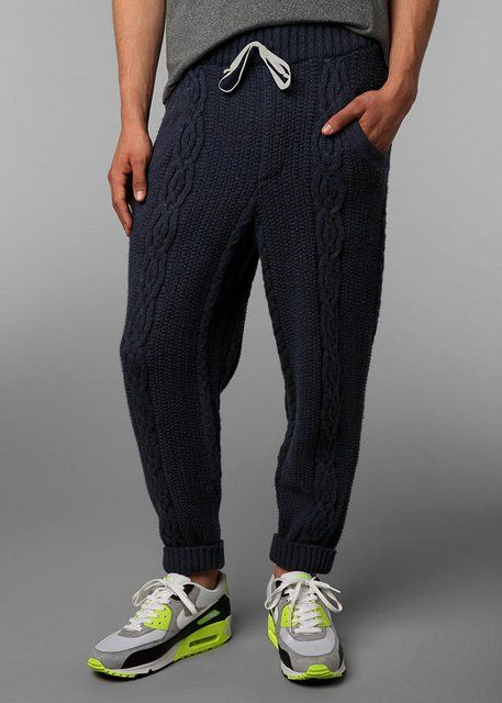 Fancy - Blundetto Cable Knit Sweatpant..don't mind that they're men's!  want them!!