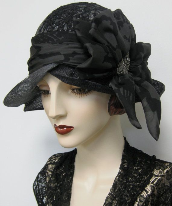 Ombre Dyed Straw Cloche by orsinimedici1951 on Etsy, $158.00