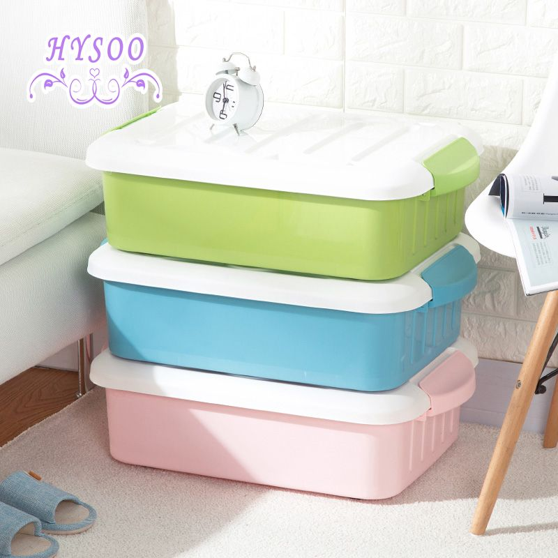 Pulley Bed Bottom Clothes Storage Box Plastic Finishing Large Clothing Hysoo