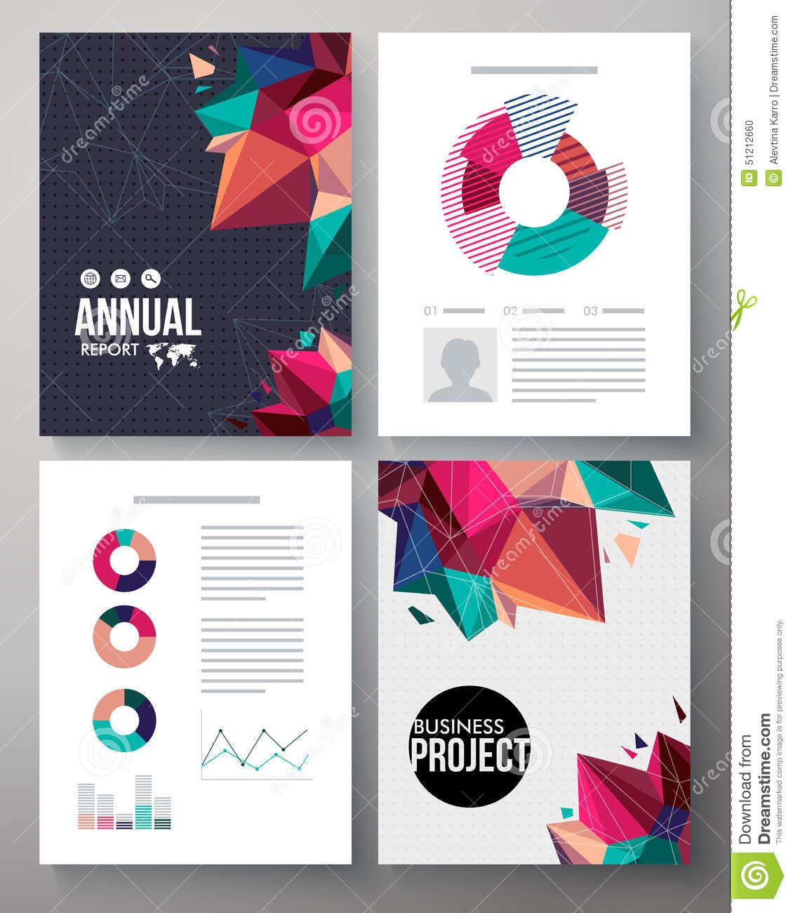 Brochure Template Design For An Annual Project Stock Vector
