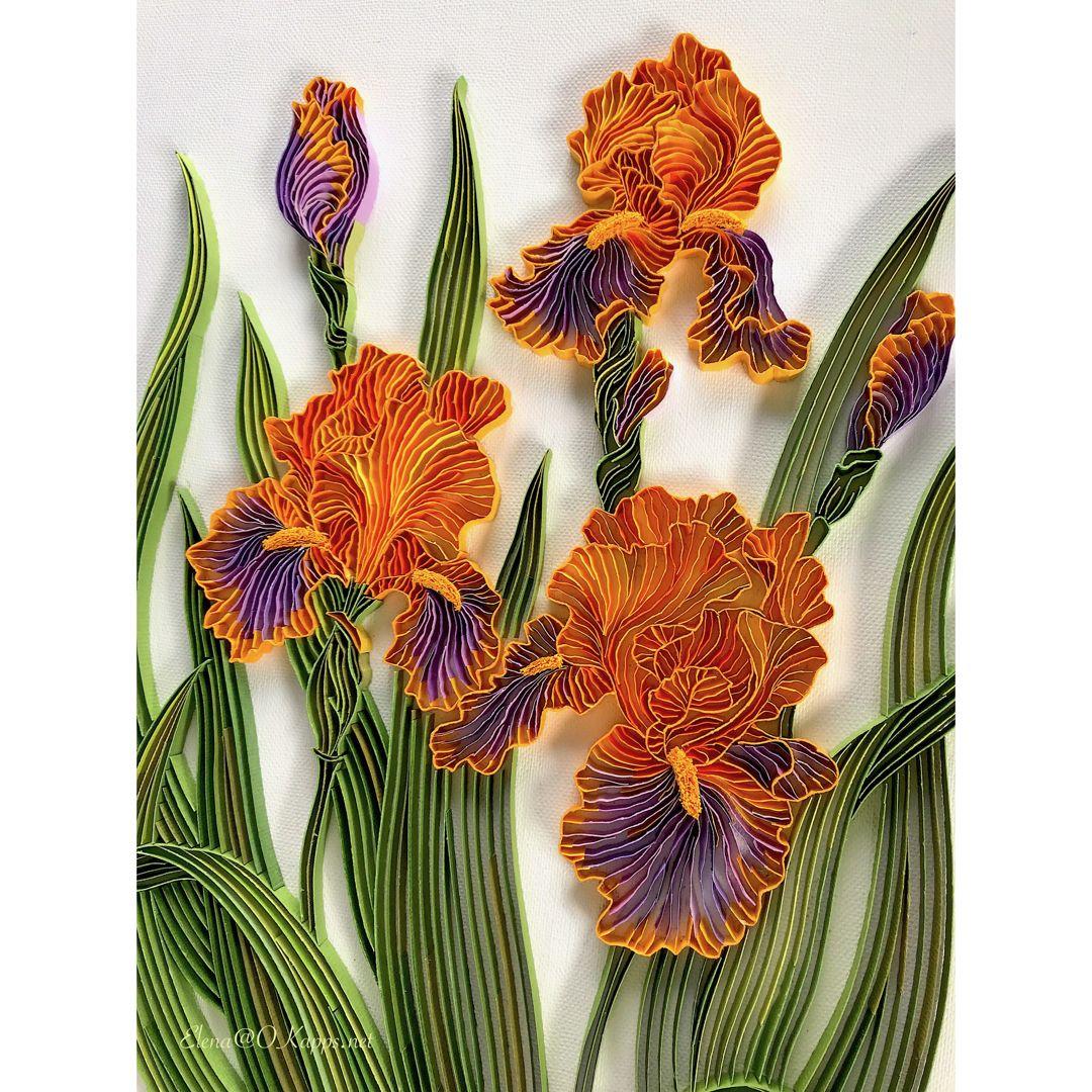 Irises Flowers Quilling Quillingart Paperquilling Handmade
