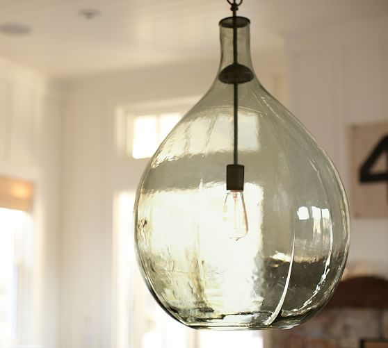 oversized pendant lighting. Pottery Barn Clift Oversized Glass Pendant: Entry Way Pendant Lighting A