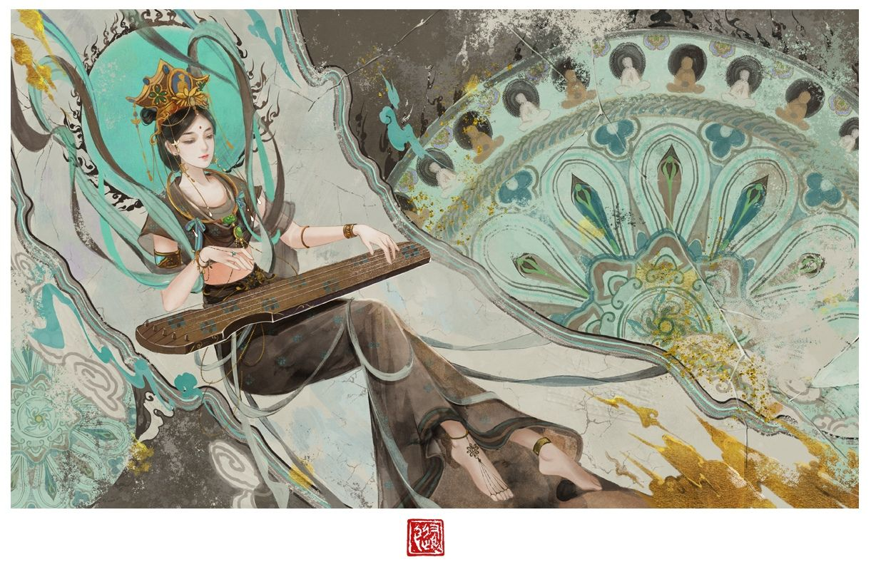 with-asian-mythology-drawingstures-with-clean