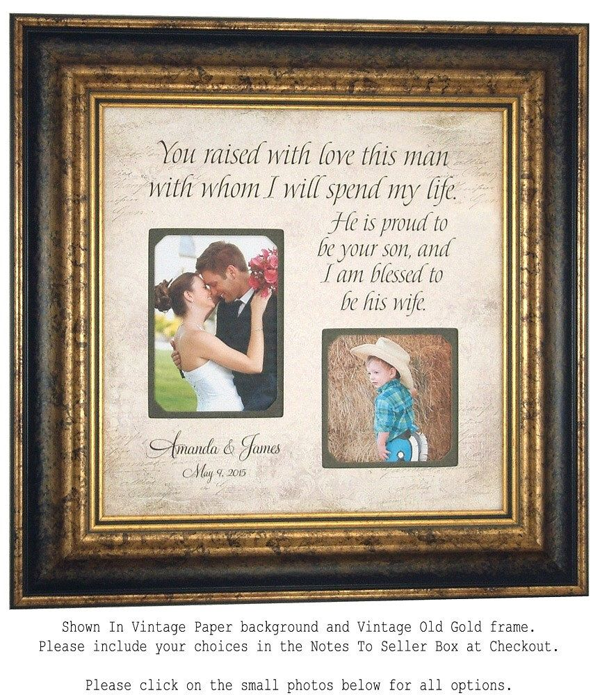 Personalized Wedding Photo Frame Gift Parents Of The Groom
