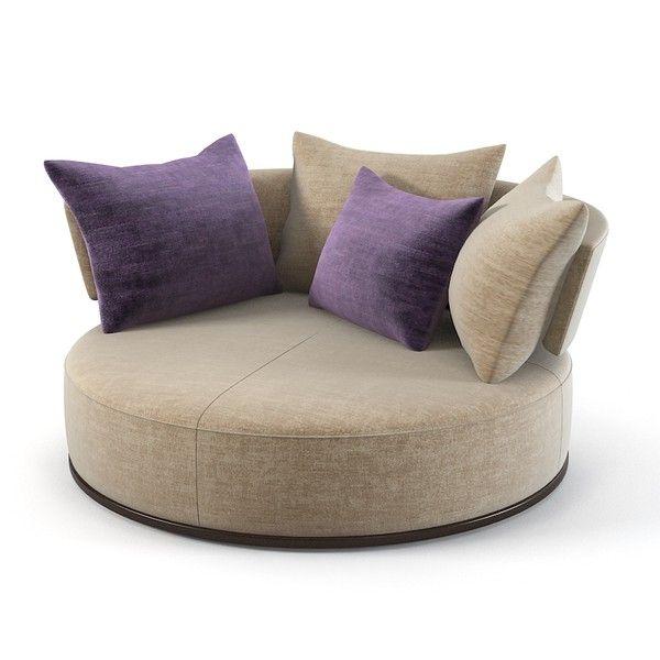 Maxalto Round Sofa Rounfd Swivel Modern Ac170g Contemporary Divan Designer  Counch