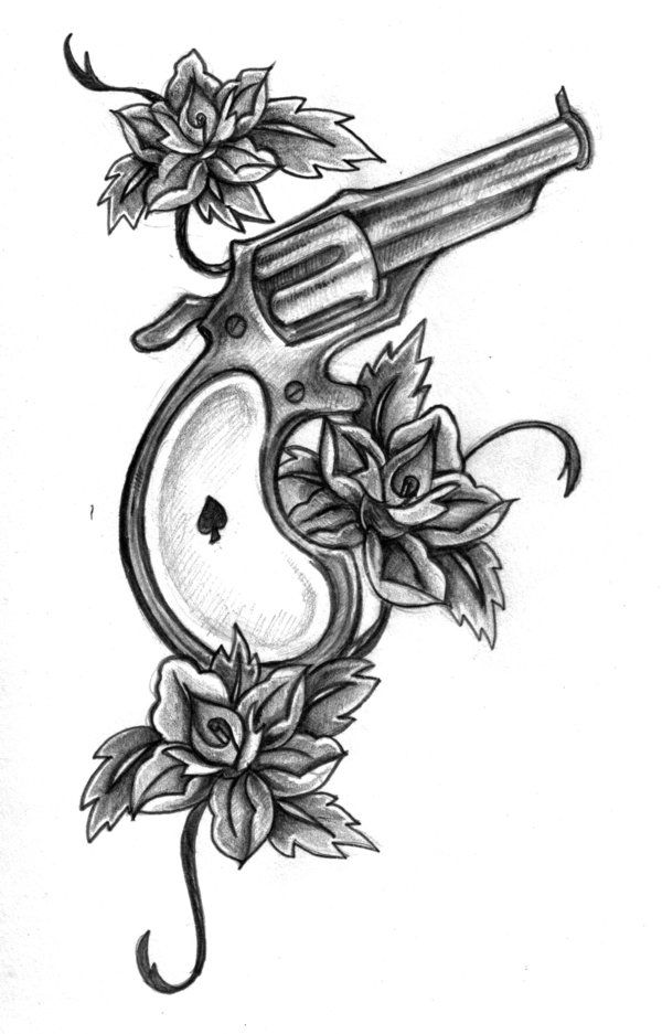feminine pistol tattoo photos gun tattoo by rieter on deviantart tattoos pinterest. Black Bedroom Furniture Sets. Home Design Ideas