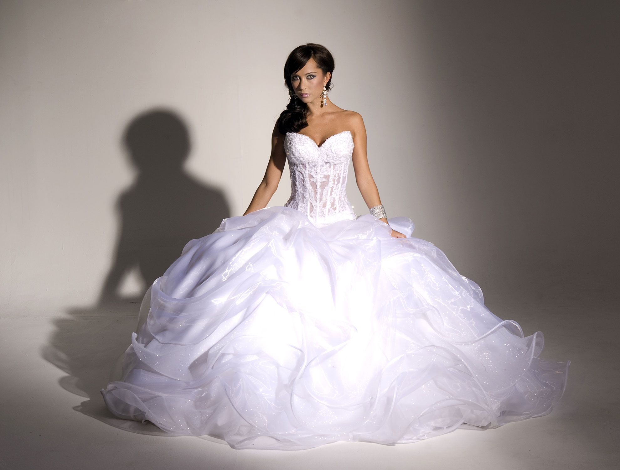 Gallery For Sparkly Poofy Wedding Dresses