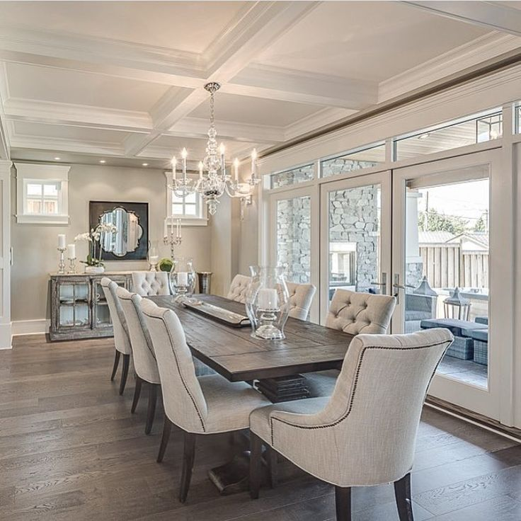 What An Elegant Dinning Room! What A Great Idea