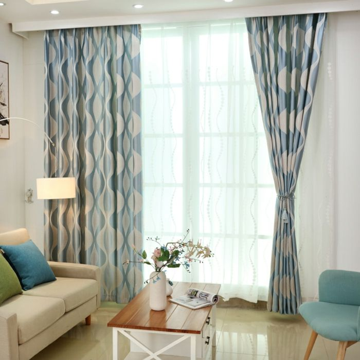 Cortinas para salon ejemplo exquisito para tu sala de - Que cortinas se llevan ...