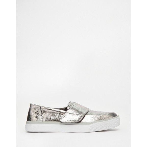 Buy Women Shoes / Toms Altair Gunmetal Silver Slip On Trainers